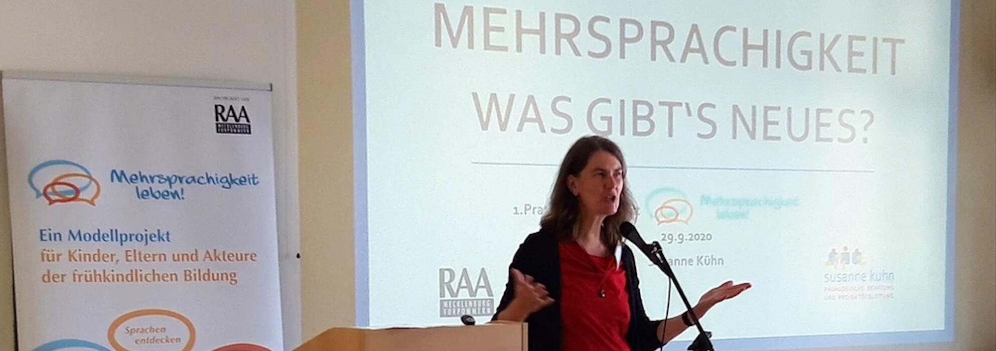 """1. Praxistag im Projekt """"Mehrsprachigkeit leben!"""" der RAA MV e.V. in Neubrandenburg , 29. September 2020"""